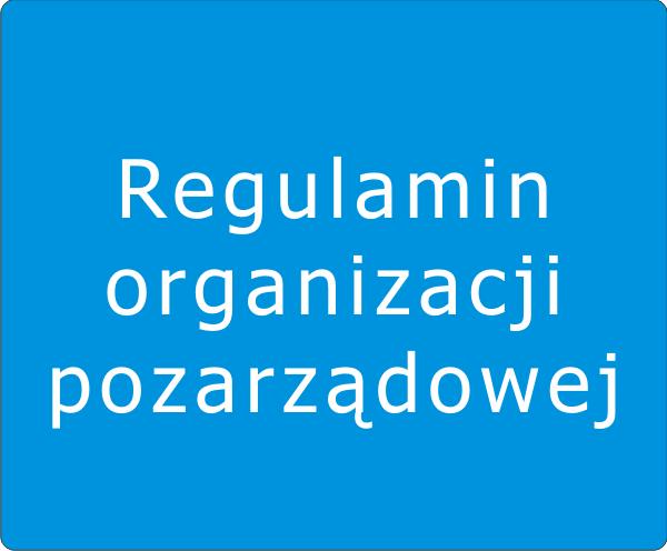 Regulamin organizacji pozarządowej