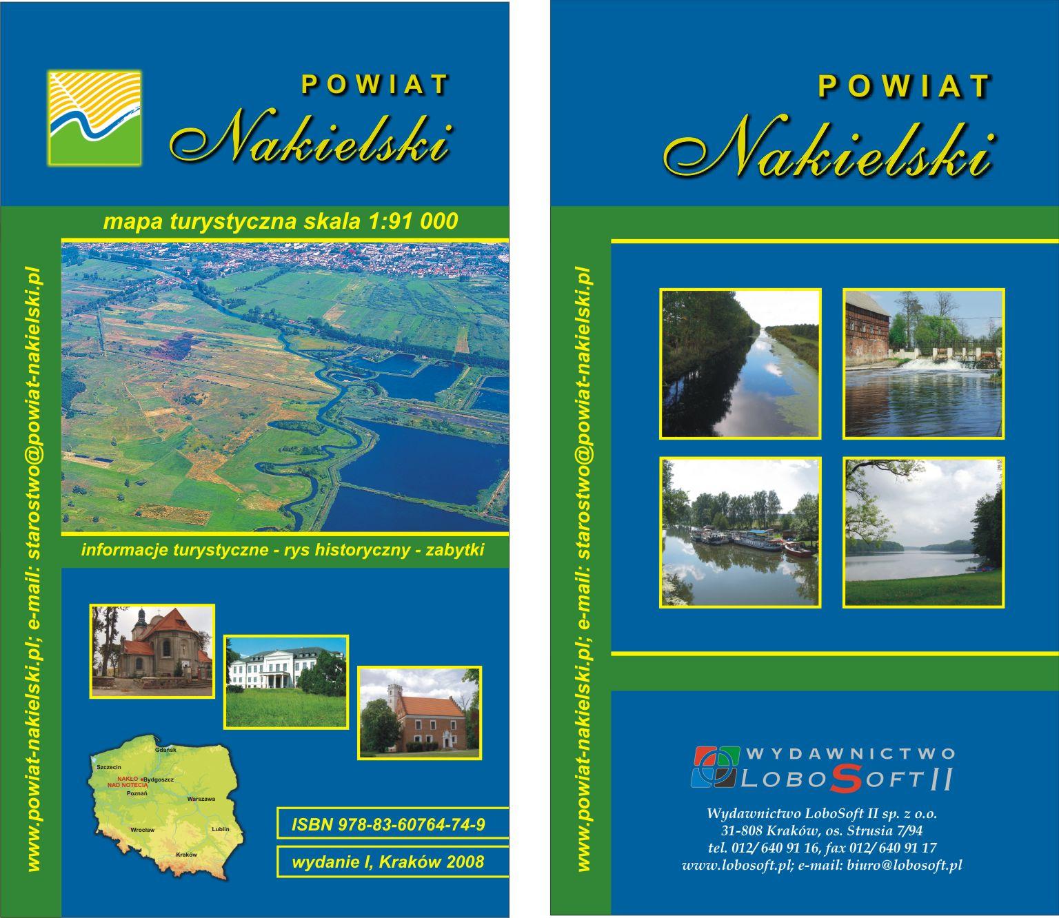 Mapa turystyczna Powiat Nakielski
