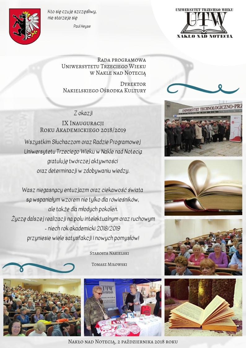 UTW Nakło - IX Inauguracja Roku Akademickiego 2018/2019