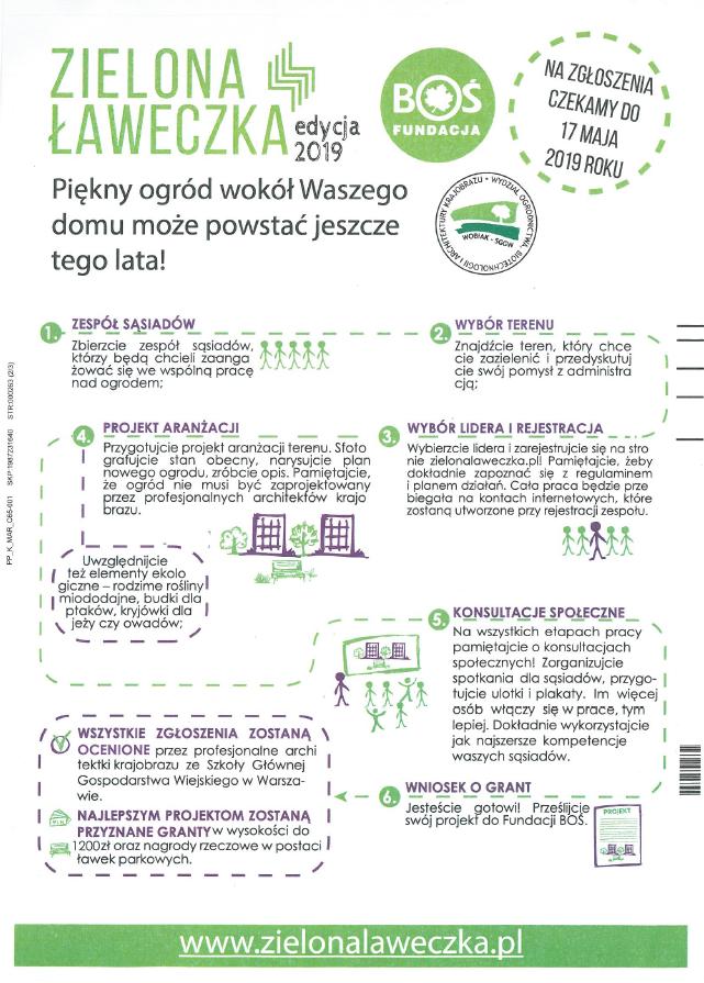 Zielona Ławeczka 2019