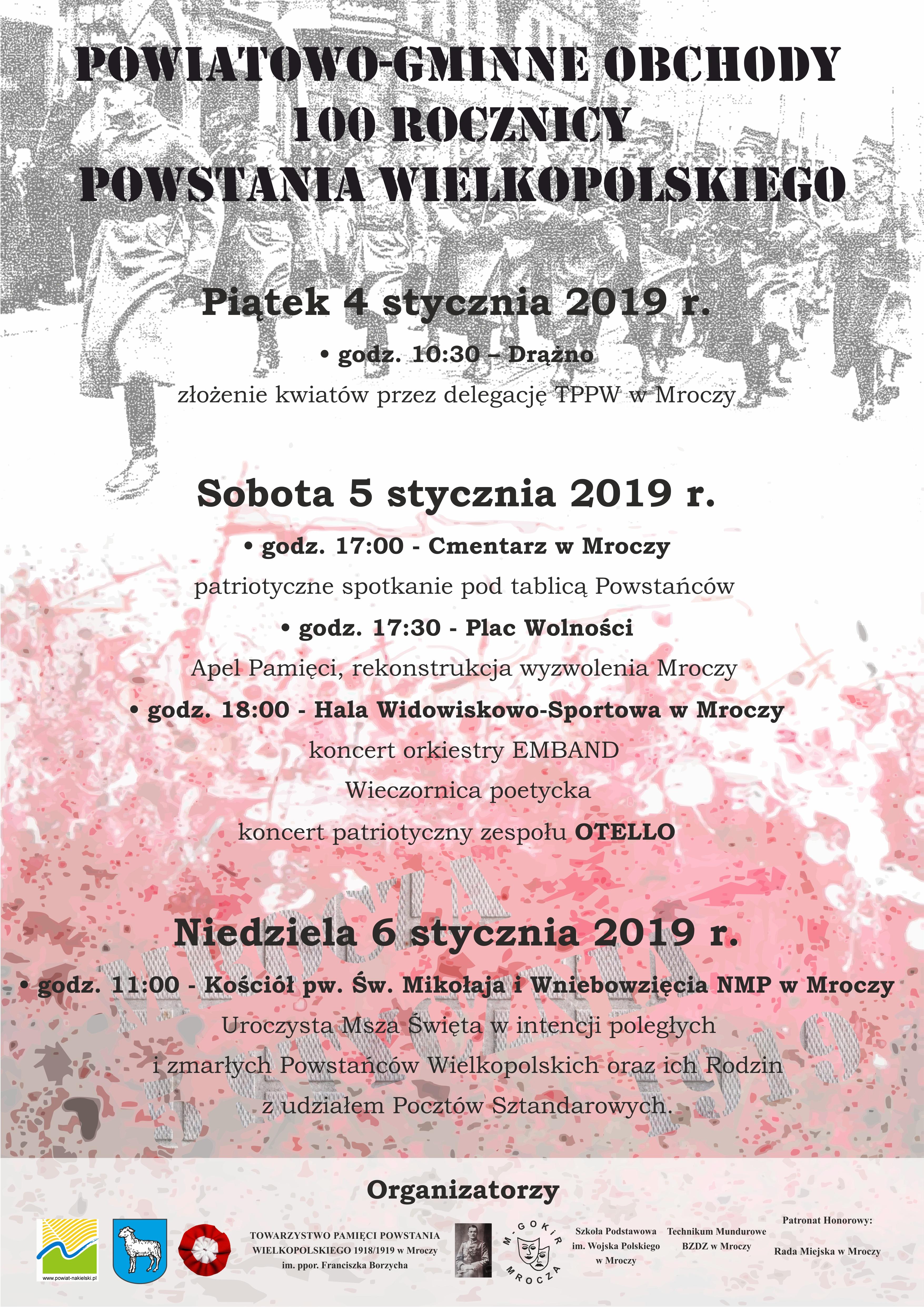 Powiatowo-Gminne obchody 100-lecia Powstania Wielkopolskiego w Mroczy