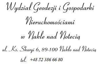 Wydział Geodezji i Gospodarki Nieruchomościami w Nakle nad Notecią